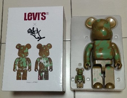 Medicom Toy Be@rbrick Levi's 400% Stash Gold Ver Action Figure - Lavits Figure  - 1