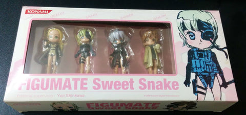 Konami Figumate Metal Gear Solid 4 MGS4 Sweet Snake 4 Trading Collection Figure Set - Lavits Figure