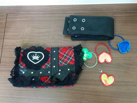 Takara Shugo Chara My Guardian Characters Amulet Accessories Pouch Bag Cosplay Set Used Lost - Lavits Figure  - 1