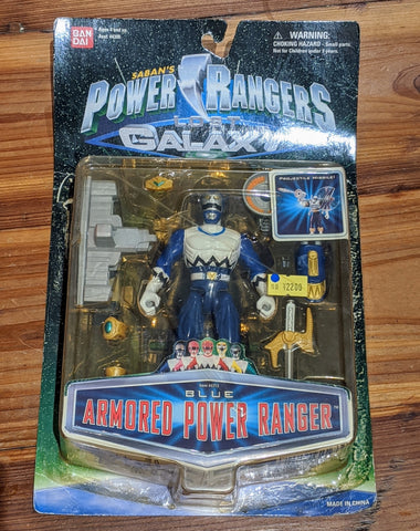 "Bandai Power Rangers Lost Galaxy Gingaman Blue Armored 4"" Action Figure"