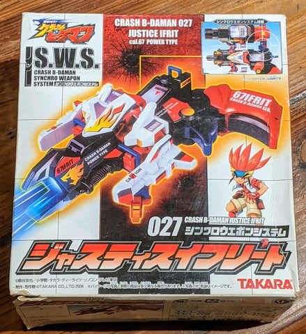 Takara Crash B-Daman S.W.S. 029 Justice Ifrit 027 Power Type Model Kit Figure