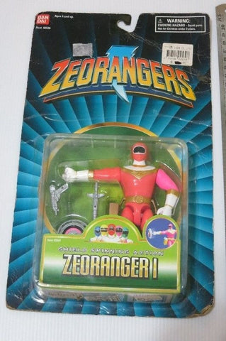 Bandai 1996 Power Rangers Zeo Ohranger Pink Shield Spinning Action Figure - Lavits Figure  - 1