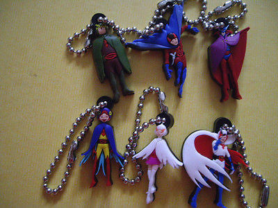 "Japan Anime Science Ninja Team Gatchaman 6 1.5"" Key Chain Strap Set Figure - Lavits Figure"