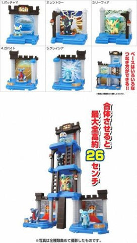 Bandai Pokemon Pocket Monsters Joint Palace Candy Toy 5 Trading Collection Figure Set - Lavits Figure