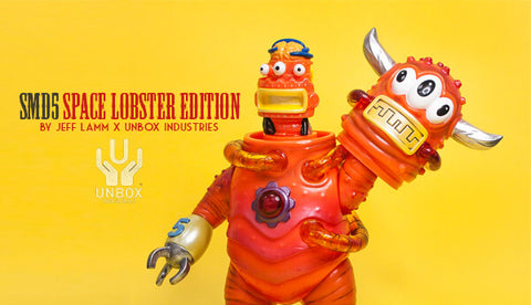 Unbox Industries Jeff Lamm SMD5 Space Lobster Edition Orange ver Vinyl Figure