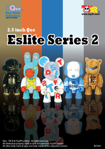 "Toy2R 2009 Qee Key Chain Collection Eslite Limited Series 2 5 2.5"" Figure Set - Lavits Figure"