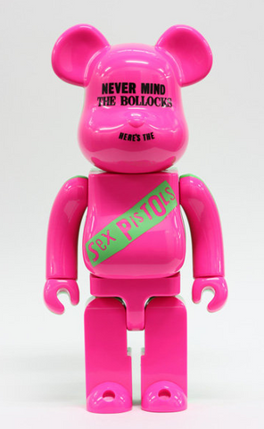 "Medicom Toy Be@rbrick 400% Sex Pistols Pink Ver 11"" Vinyl Collection Figure - Lavits Figure"