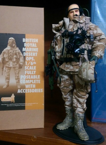 "BBi 12"" 1/6 British Royal Marine Desert OPS Action Figure - Lavits Figure"