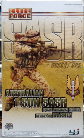 "BBi 12"" 1/6 Collectible Items Elite Force Australian 1 SQN SASR Special Air Service Regiment Desert OPS Sergeant Barney Action Figure - Lavits Figure  - 1"
