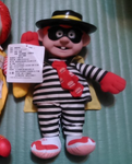 Mcdonalds 1996 Character Hamburglar Plush Doll Figure - Lavits Figure