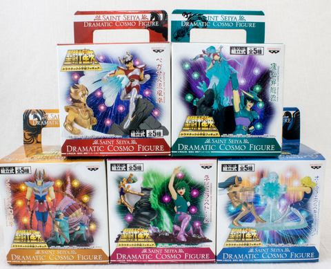 Bandai Saint Seiya Dramatic Cosmo 5 Trading Collection Figure Set - Lavits Figure