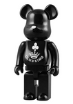 "Medicom Toy Be@rbrick 400% Club King Black Ver 11"" Vinyl Collection Figure - Lavits Figure"