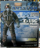 "BBi 12"" 1/6 Collectible Items Elite Aviator F-15C Eagle Pilot Viper Limited Edition Action Figure - Lavits Figure  - 2"