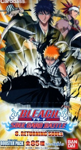 Bandai Bleach Carddass Soul Card Battle Game Booster Pack Part 8 Returning Souls Sealed Box