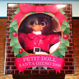 "Jun Planning 2000 Gremlins Santa Gizmo Petit Pludh Doll 4"" Collection Figure - Lavits Figure  - 1"