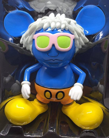 "360 Toy Group 2006 Keith Haring Andy Mouse Blue Ver 6"" Vinyl Figure - Lavits Figure"
