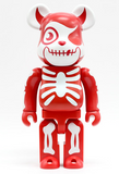 "Medicom Toy 2003 Be@rbrick 400% Balzac Atom Rage Vampire Red Ver 11"" Vinyl Collection Figure - Lavits Figure  - 1"