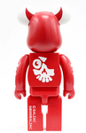 "Medicom Toy 2003 Be@rbrick 400% Balzac Atom Rage Vampire Red Ver 11"" Vinyl Collection Figure - Lavits Figure  - 2"
