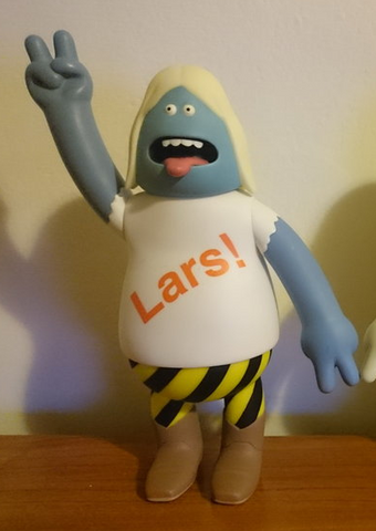 "Amos Toys 2001 James Jarvis World Of Pain Lars Alternate Color Blue Ver 7"" Vinyl Figure - Lavits Figure"