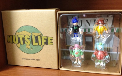"MOGraphixx 2015 T9G Nuts Life The Original Ver 4 2"" Vinyl Figure Set - Lavits Figure"
