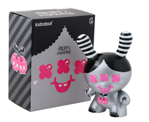 "Kidrobot 2009 Dunny Buff Monster Ver 8"" Vinyl Figure - Lavits Figure"