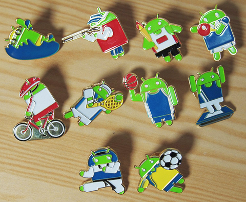 Google Games Olympic Android Robot 10 Mini Collectible Metal Pin Set - Lavits Figure