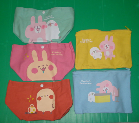 "Kanahei's Small Animals Taiwan Family Mart Limited 5 11"" Canvas Tote Bag Set - Lavits Figure"