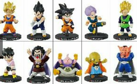 Bandai Dragon Ball Z Deformation Majin Buu Boo Ver 10 Mini Trading Figure Set