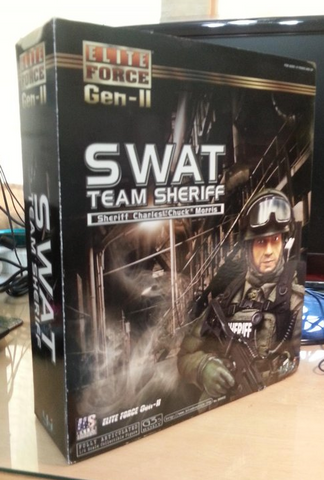 "BBi 12"" 1/6 Collectible Items Elite Force SWAT Team Sheriff Charles Chuck Morris Action Figure - Lavits Figure  - 1"
