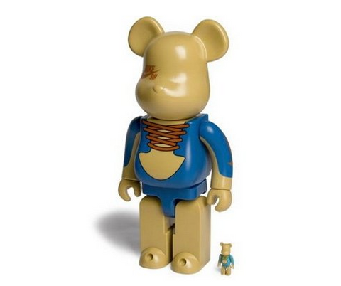 "Medicom Toy 2006 Be@rbrick 400% 50% Nike SB Three 11"" Vinyl Figure Set - Lavits Figure  - 1"
