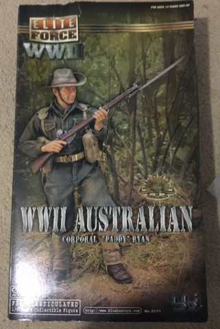 "BBi 12"" 1/6 Collectible Items Elite Force WWII Australian Corporal Paddy Ryan Action Figure - Lavits Figure"