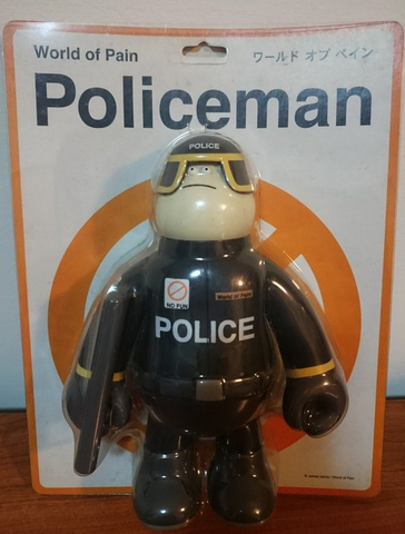 Amos Toys 2008 James Jarvis World Of Pain Police Yellow Ver Vinyl Figure - Lavits Figure