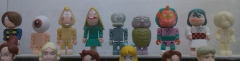 Run'A Tinibiz Gegege No Kitaro 9 Action Collection Figure Set Used - Lavits Figure