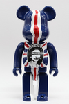 "Medicom Toy Be@rbrick 400% Sex Pistols God Save the Queen Blue Ver 11"" Vinyl Collection Figure - Lavits Figure  - 2"