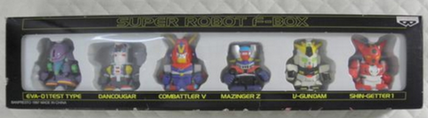 Banpresto Super Robot Wars F-Box 6 Finger Toy Trading Collection Figure Set