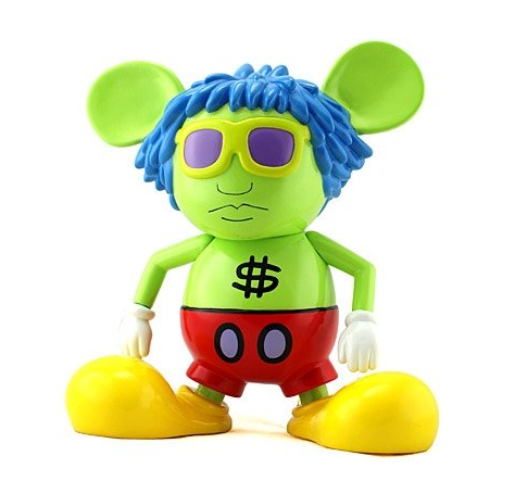 "360 Toy Group 2006 Keith Haring Andy Mouse Green Ver 6"" Vinyl Figure - Lavits Figure  - 1"