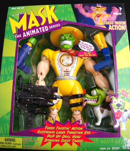 "Toy Island 1997 The Mask Animated Series Torso Twistin' Action Milo 13"" Collection Figure - Lavits Figure  - 1"
