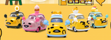 "Sanrio Gudetama Family Mart Limited 5+2 7 2"" Metal Mini Car Trading Figure Set - Lavits Figure  - 2"