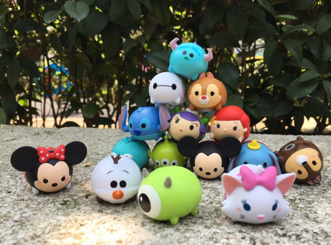 Disney Tsum Tsum Character Family Mart Limited Part 1 15 Mini Magnet Trading Figure Set - Lavits Figure