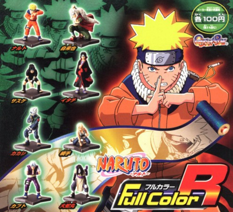 Bandai Naruto Gashapon Full Color R 8 Trading Figure Set - Lavits Figure