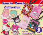 Bandai Sanrio Gashapon Pouch Collection 4 Trading Figure Set Hello Kitty My Melody Little Twin Star - Lavits Figure