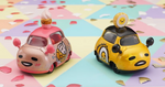 "Sanrio Gudetama Family Mart Limited 5+2 7 2"" Metal Mini Car Trading Figure Set - Lavits Figure  - 3"