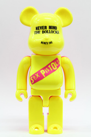 "Medicom Toy Be@rbrick 1000% Sex Pistols Yellow Ver 29"" Vinyl Collection Figure - Lavits Figure  - 1"