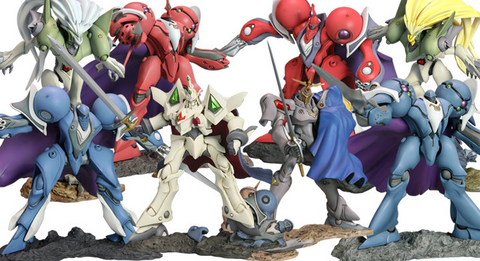 Kotobukiya The Vision of Escaflowne One Coin Grande Collection 8+1 Secret 9 Trading Collection Figure Set - Lavits Figure  - 1