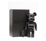 "Medicom Toy Be@rbrick 400% 100% Skull All Black Ver 11"" Vinyl Collection Figure - Lavits Figure  - 2"