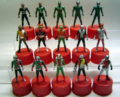 Kamen Masked Rider Showa Series 15 Bottle Cap Trading Figure Set - Lavits Figure  - 1