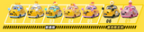 "Sanrio Gudetama Family Mart Limited 5+2 7 2"" Metal Mini Car Trading Figure Set - Lavits Figure  - 1"