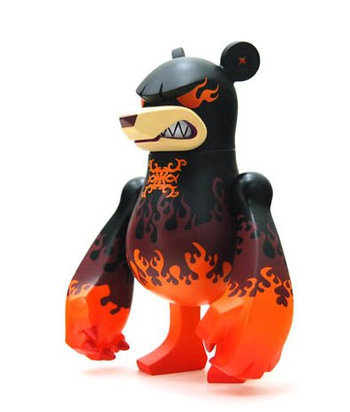 "Toy2R 2012 Touma Wonderwall Knuckle Bear Waverlord Oranger Ver 6"" Vinyl Figure - Lavits Figure  - 1"