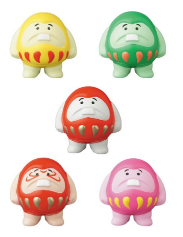 "Medicom Toy VAG Vinyl Artist Gacha Gashapon Good Luck Daruma Boya 5 2.5"" Figure Set - Lavits Figure"