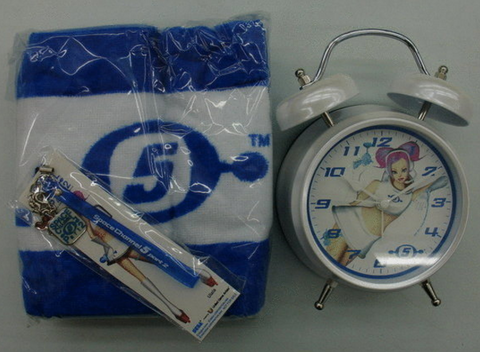 Sega Dreamcast Space Channel 5 Ulala Clock Towel Phone Strap Collection Figure Set - Lavits Figure